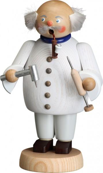 """Räucherfigur / Räuchermännchen """"Zahnarzt"""", aus Holz, weiß, Höhe 18 cm"""
