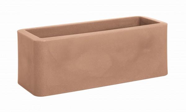 Blumentopf / Pflanztopf, B50,3 x T20 x H15,3, 11 l Inhalt, oval, für Innen und Außen, aus hochwertigem Polyethylen, matt