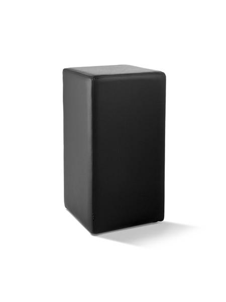 Pomp Tresenhocker, echtes Leder, schwarz, B = 33 cm, T = 33 cm, H = 65 cm, mit komfortabler Polsterung