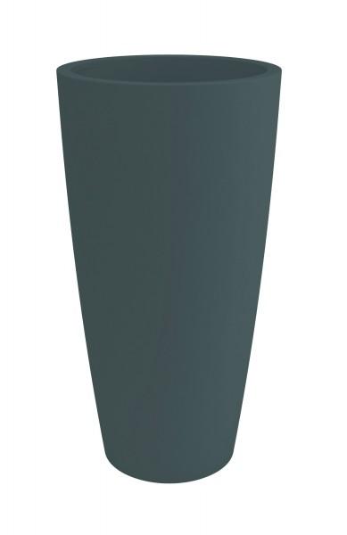 Blumentopf / Pflanztopf, Höhe 85 cm, Ø 38, anthrazit (ähnl. RAL 7016), matt, mit herausnehmbarem Pflanz-Einsatz, für Innen und Außen, aus hochwertigem Polyethylen-Copy