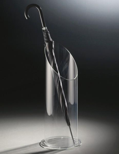 Hochwertiger Acryl-Glas Schirmständer, klar, Ø 20 cm, H 60 cm, Acryl-Glas-Stärke 8 mm