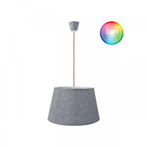 """Moree LED Hängelampe / Hängeleuchte """"Alice 50"""", aus Filz (PE), Ø 50 cm x H 308 cm, Multicolor LED-Leuchtmittel, 240 V, max. 25 W, für den Innenbereich"""