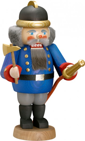 "Nussknacker ""Feuerwehrmann"", aus Holz, blau, Höhe 29 cm"