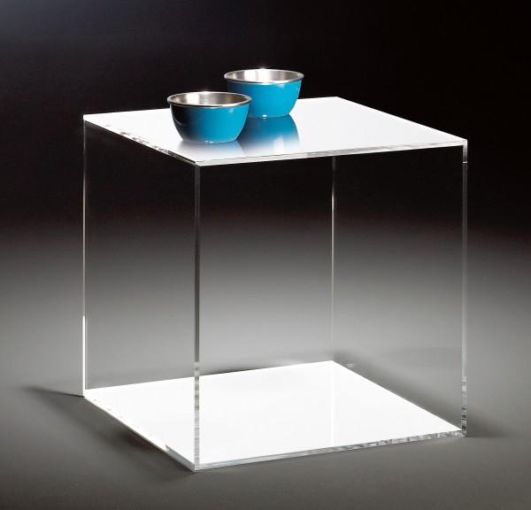 Hochwertiger Acryl-Glas Würfel, 45 x 45 cm, H 45 cm, Acryl-Glas-Stärke 8 mm