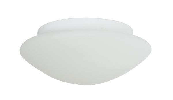 Deckenleuchte, Bauhaus Stil, Metall weiß lackiert, Höhe mit Glas 10 cm, Ø 31 cm, 230 V, E27 60 W