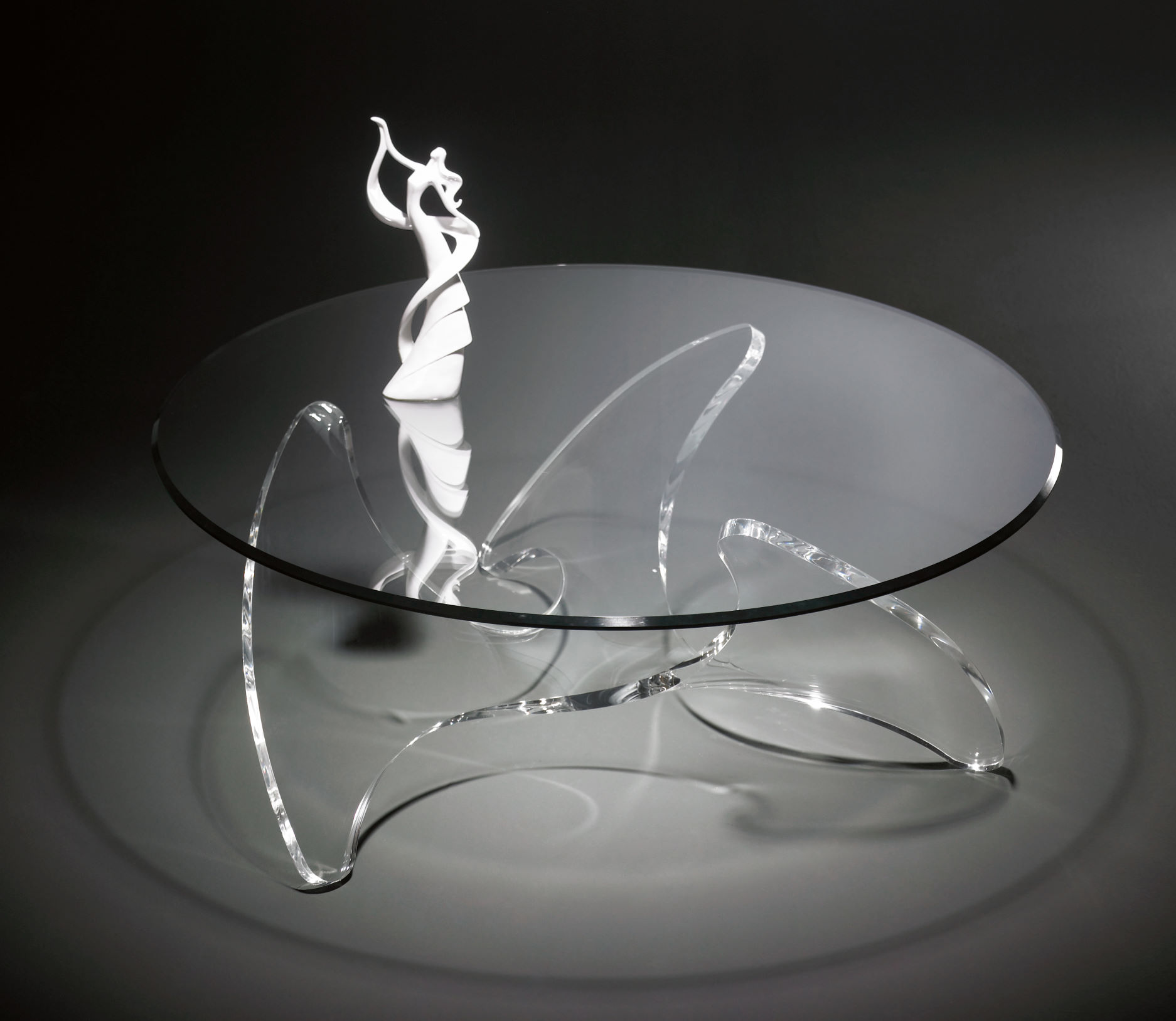 hochwertiger designer couchtisch mit glasplatte auf. Black Bedroom Furniture Sets. Home Design Ideas