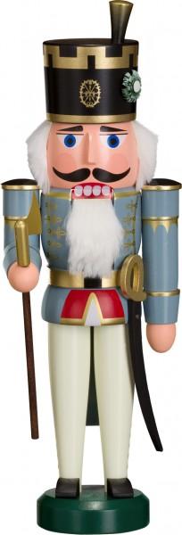 "Nussknacker ""Offiziant"", aus Holz, blau, Höhe 29 cm"