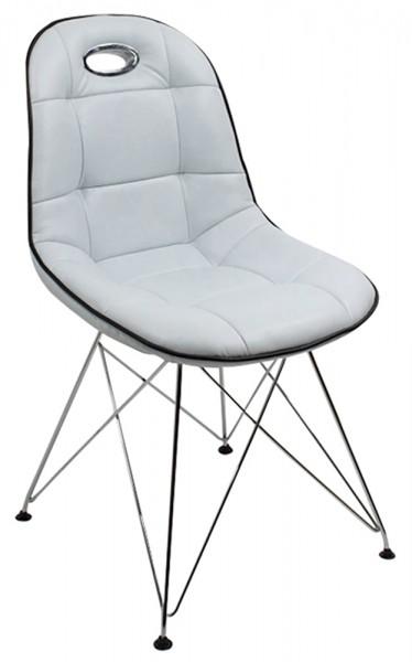 Designer Schalenstuhl mit Trapezgittergestell, 2-er Set, ergonomische Sitzschale, B44 x T42 x H46 cm, in 5 verschiedenen Farben