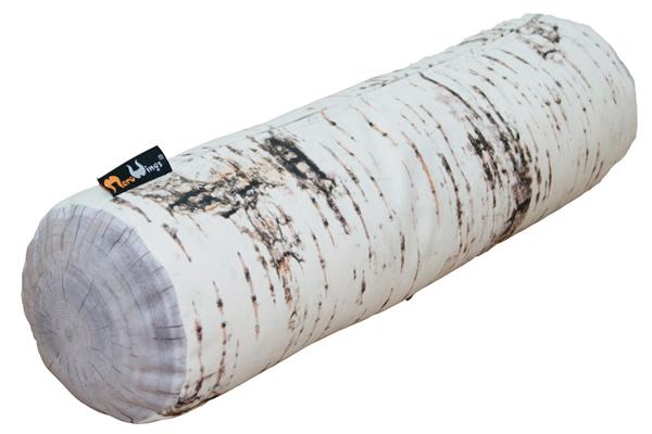 MeroWings Forest Pod Kissen, 60 cm x 60 cm, mit originalgetreuem Fotodruck Birke, für den Innenbereich