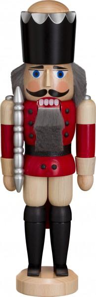 "Nussknacker ""König"", aus Holz, lasiert, aubergine, Höhe 29 cm"